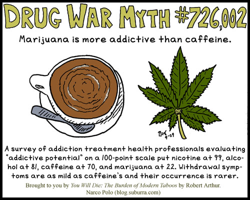 Marijuana Is Not More Addictive Than Caffeine