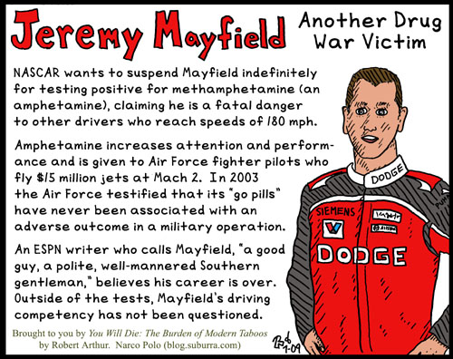 Jeremy Mayfield Drug War Victim
