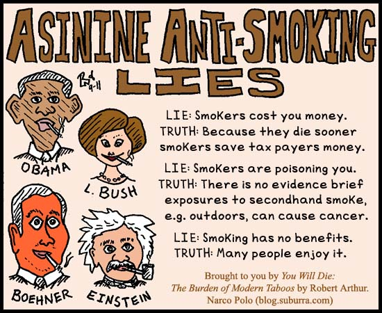 Asinine Anti-Smoking Lies Image